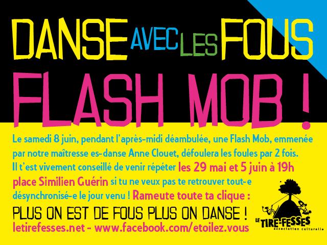 Danse avec les fous, flash mob !